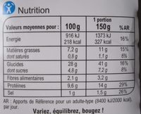 Duo de Saumon & Courgettes Grillées - Nutrition facts