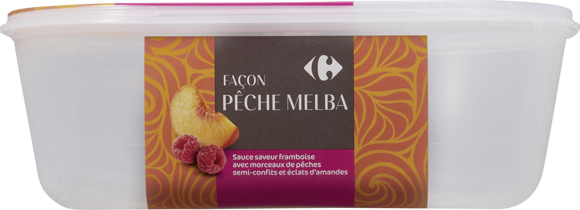 Glace façon pêche melba - Produit - fr