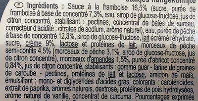 Glace façon pêche melba - Ingrédients - fr