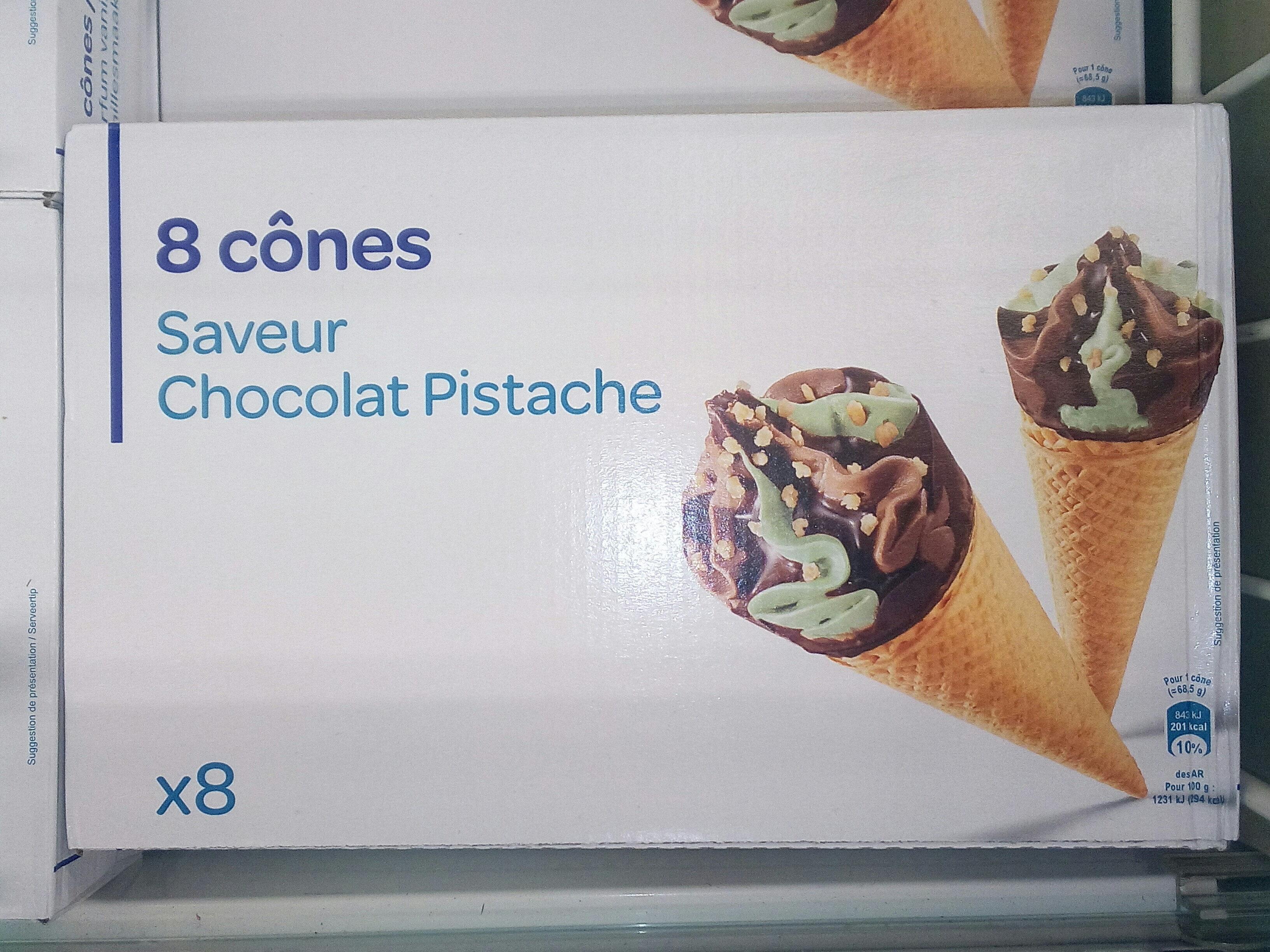 8 Cônes Saveur Chocolat Pistache - Produit