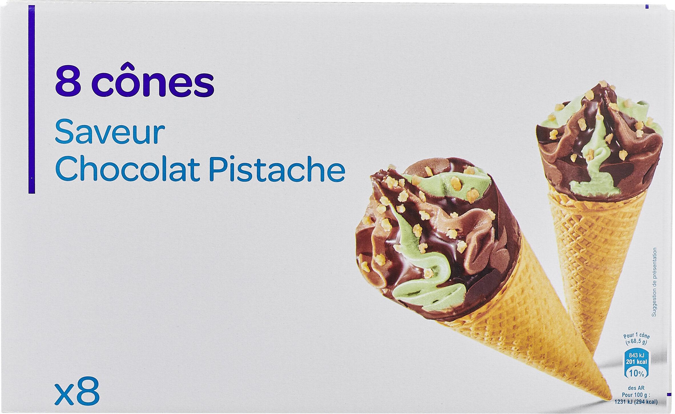 8 Cônes Saveur Chocolat Pistache - Prodotto - fr