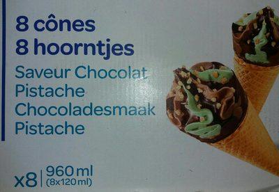 8 Cônes Saveur Chocolat Pistache - Informations nutritionnelles