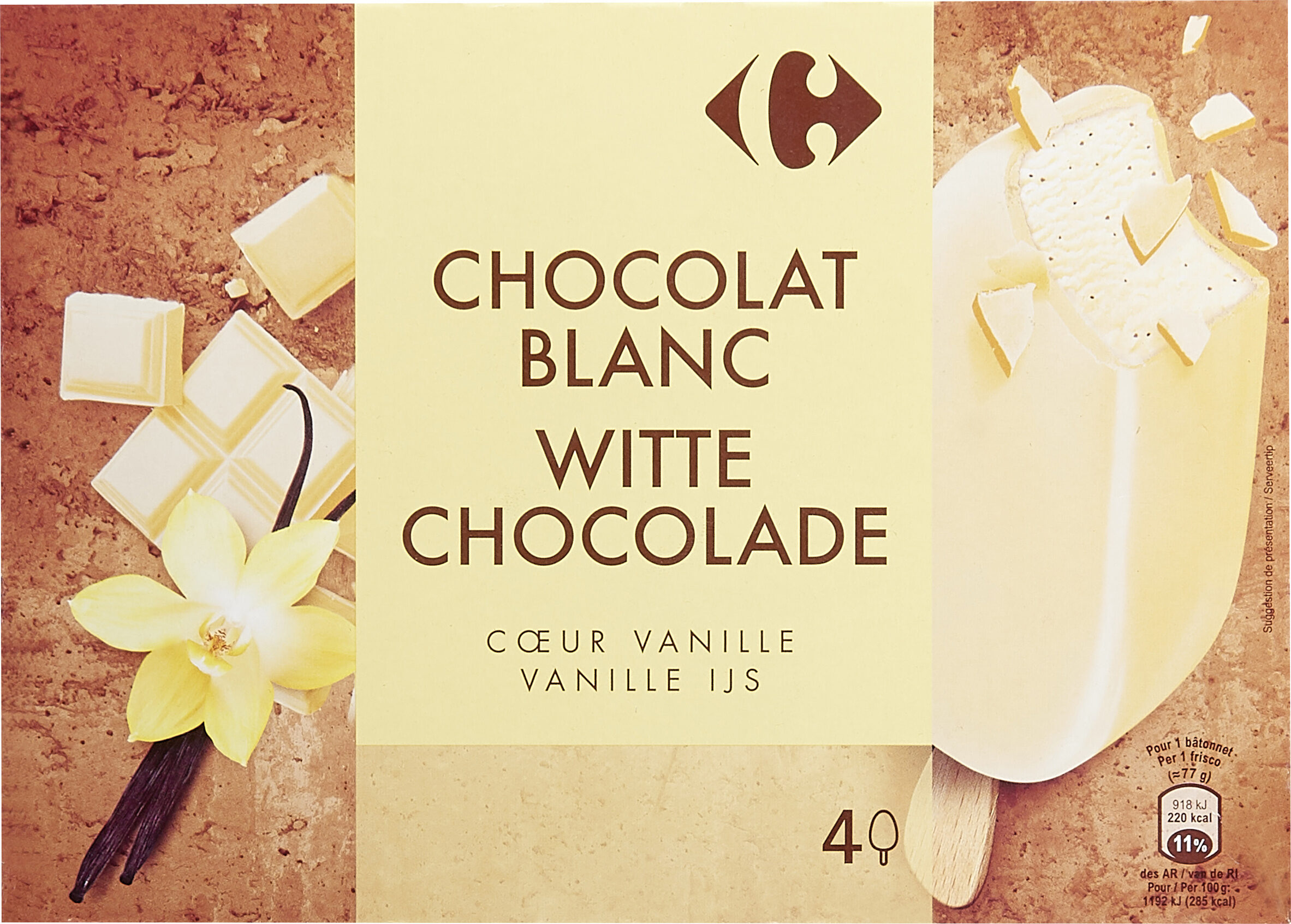Chocolat Blanc Coeur Vanille - Product - fr