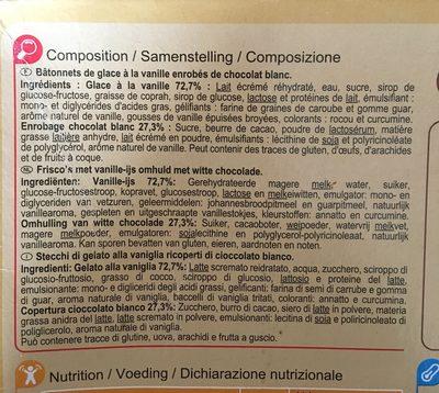 Chocolat Blanc Coeur Vanille - Ingredients - fr