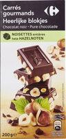 Carrés Gourmands Chocolat noir Noisettes entières - Produit - fr