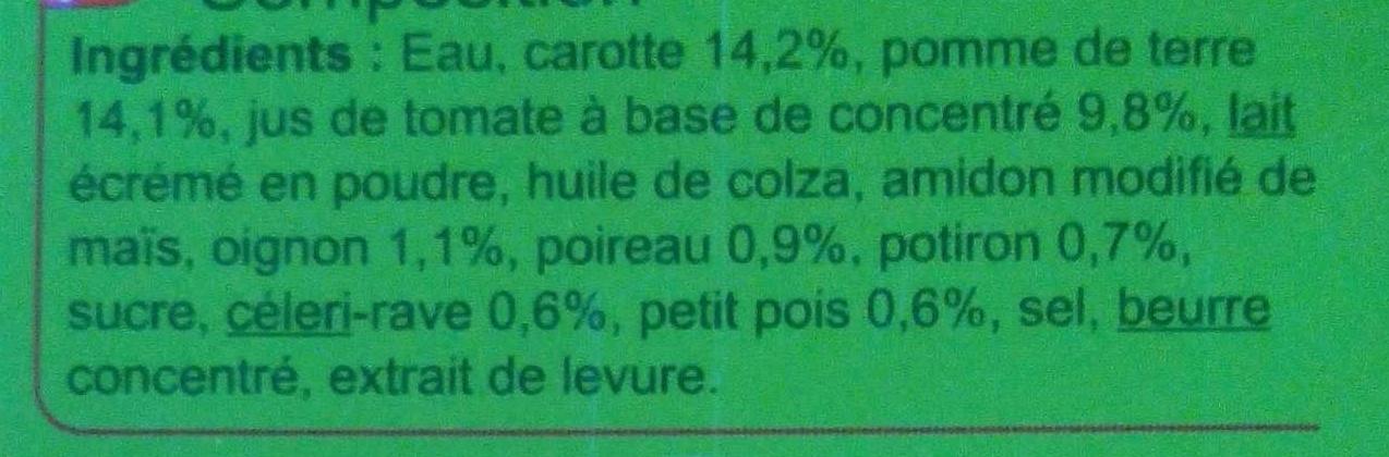 Velouté aux  8 Légumes - Ingrédients