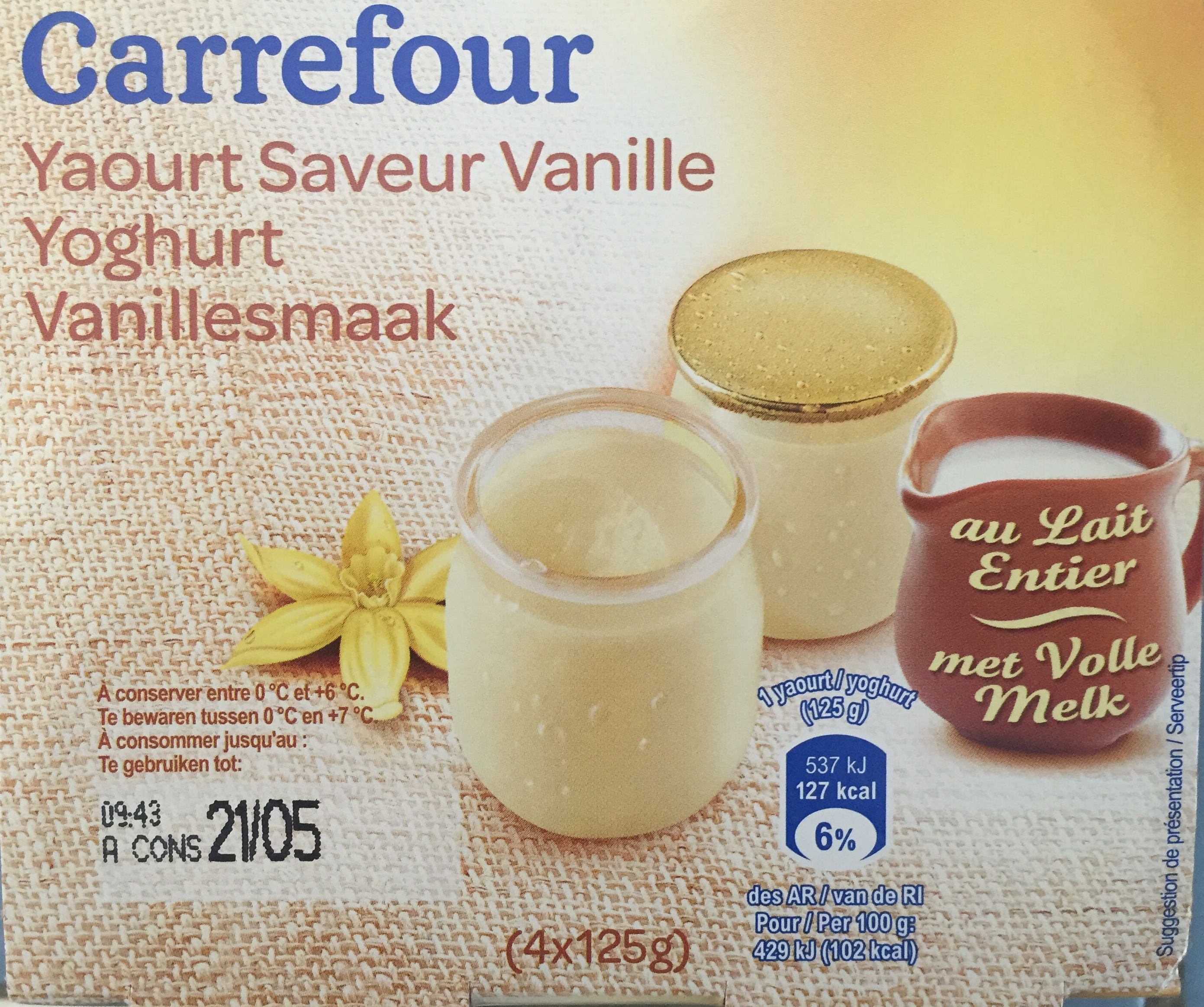 Yaourt saveur vanille - Product