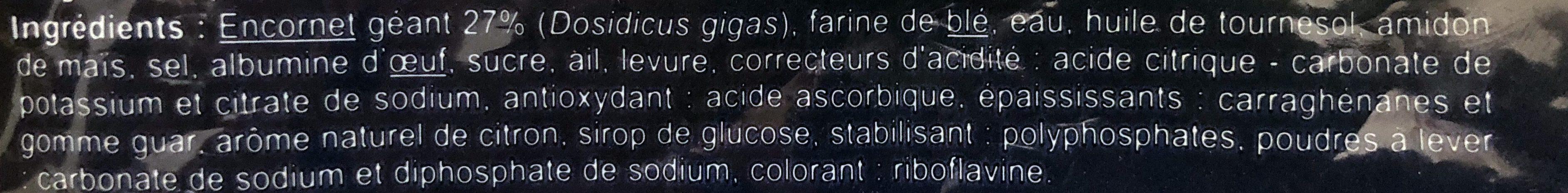 Beignet à la romaine - Ingredientes - fr