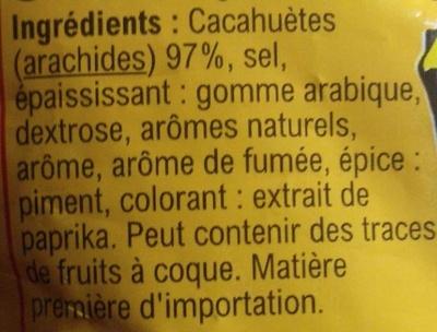 Cacahuètes aromatisées grillées à sec - Ingrédients - fr