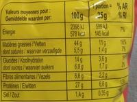 Cacahuètes aromatisées grillées à sec - Informations nutritionnelles - fr