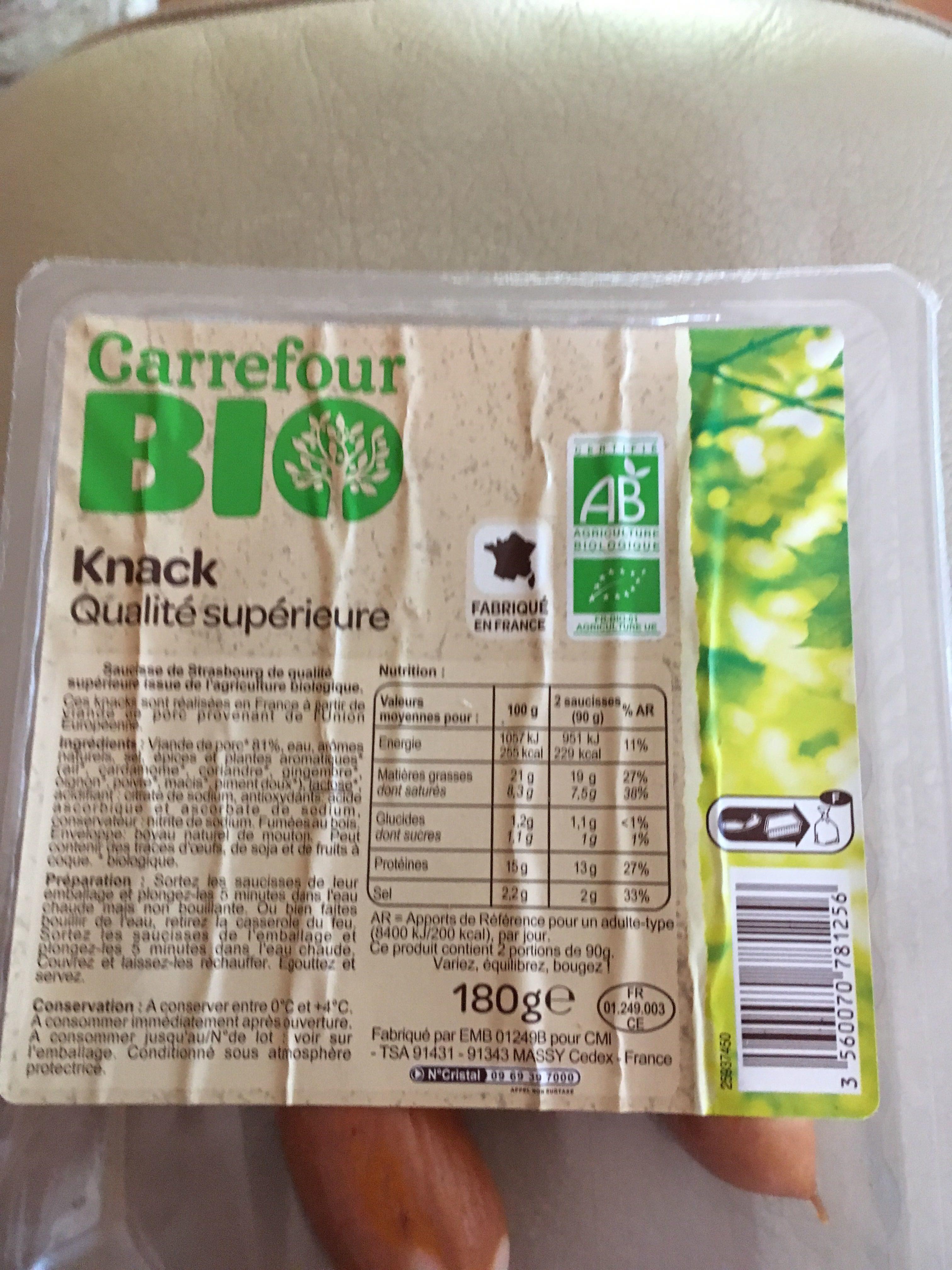 Knack bio qualité supérieure - Product