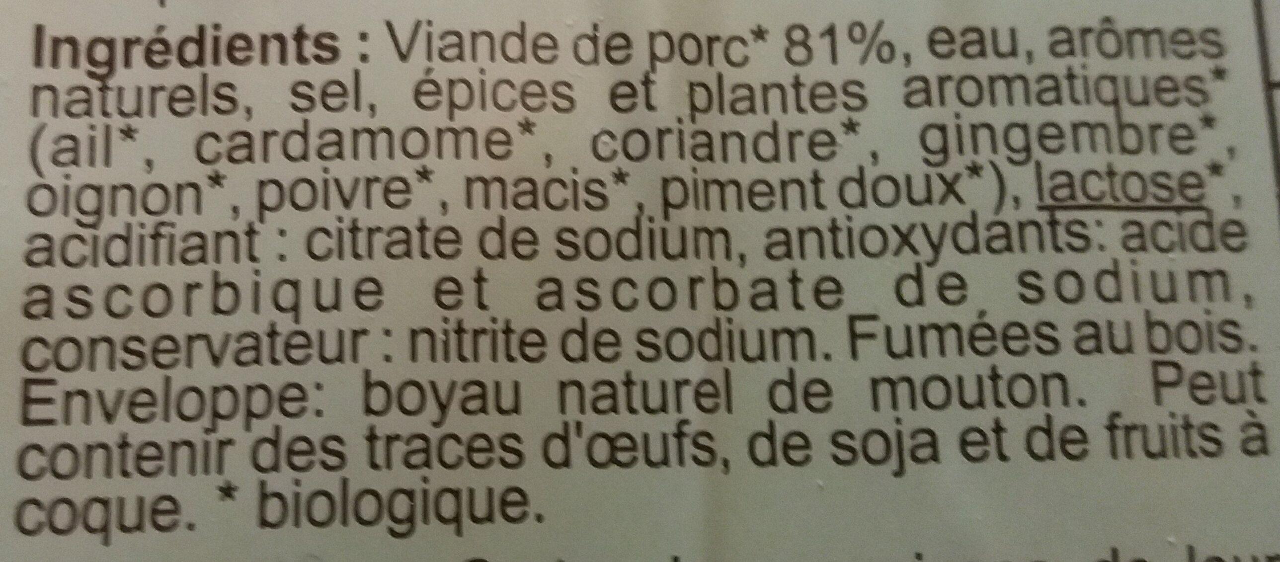 Knack bio qualité supérieure - Ingredients