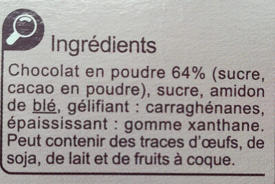 Flan entremets saveur chocolat - Ingredients