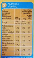 Flan entremets saveur chocolat - Nutrition facts