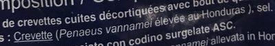 Queues de crevettes - Ingredientes