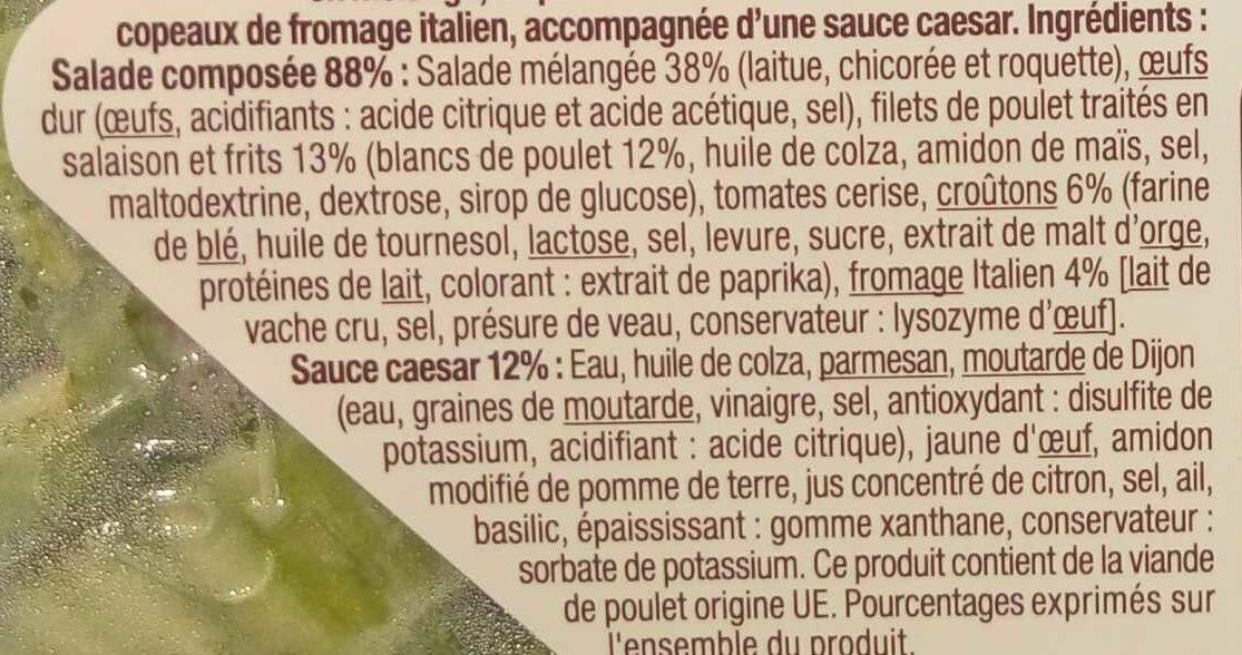 La Caesar Poulet, Croûtons & Fromage italien sauce caesar - Ingrédients