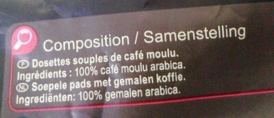 Dosettes de café Premium - Ingredients - fr