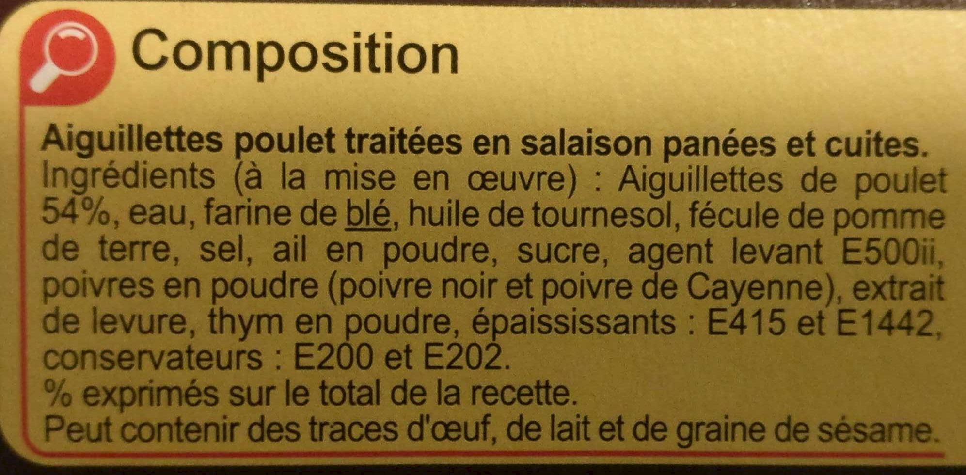 Aiguillettes de poulet panées - Ingrédients - fr