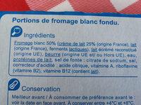 Le carré crémeux - Ingrediënten - fr