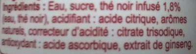Thé noir infusé - Ingrédients - fr