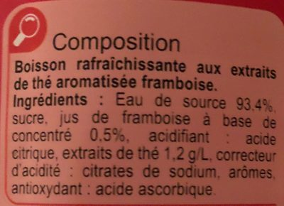 Iced Tea saveur framboise - Ingredients - fr