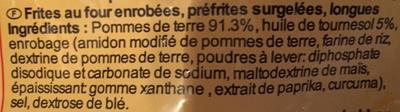 Frites Zig-Zag - Ingrédients
