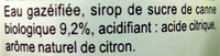 Carrefour BIO Limonade - Ingredienti - fr