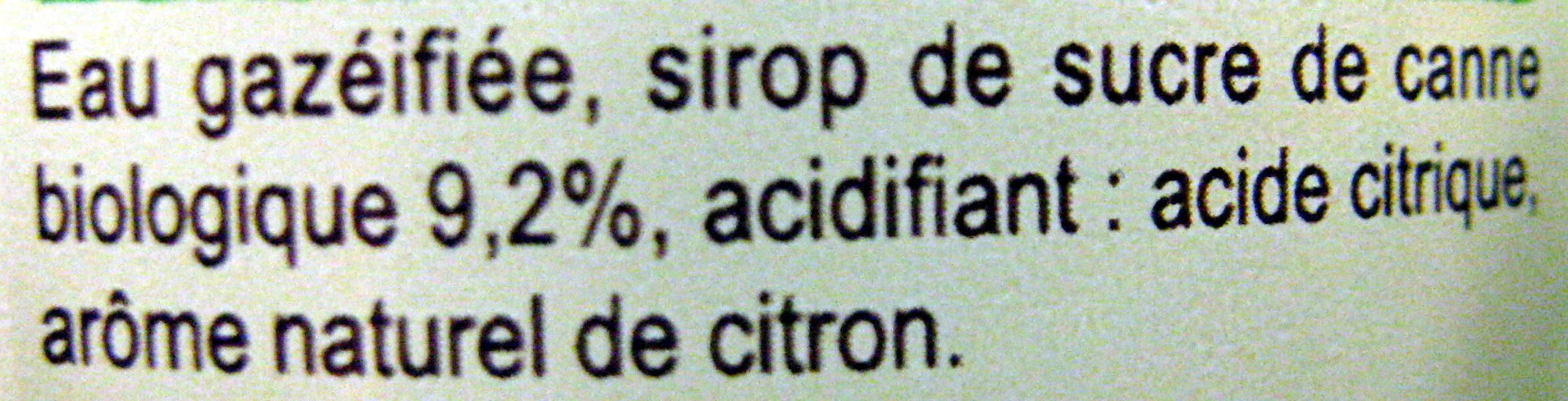 Carrefour BIO Limonade - Ingredients - fr