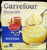 Riz au lait  nature Carrefour - Product