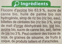 Muesli croustillant nature - Ingrédients - fr