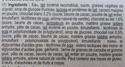 Le Feuilleté 3 chocolats - Ingredientes