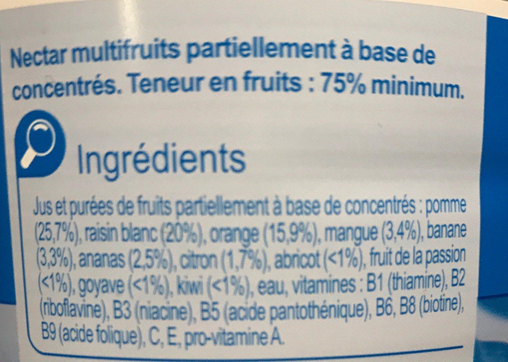 Multifruits - Ingrédients - fr