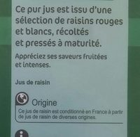 Raisin 100% - Ingredientes