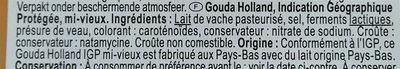 Gouda Holland - Ingrédients - fr