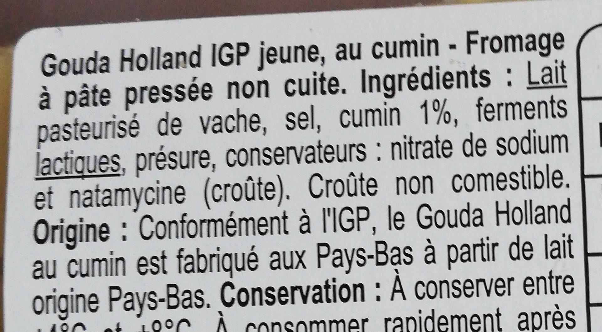 Gouda Holland - Ingrediënten - fr