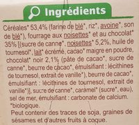 Cereales coeur fondant noisette&chocolat - Ingredients - fr