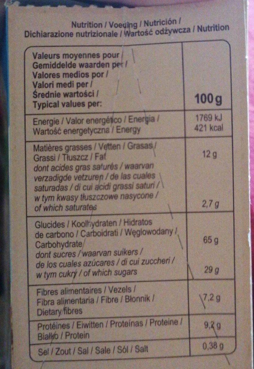 Cereales coeur fondant noisette&chocolat - Nutrition facts - fr
