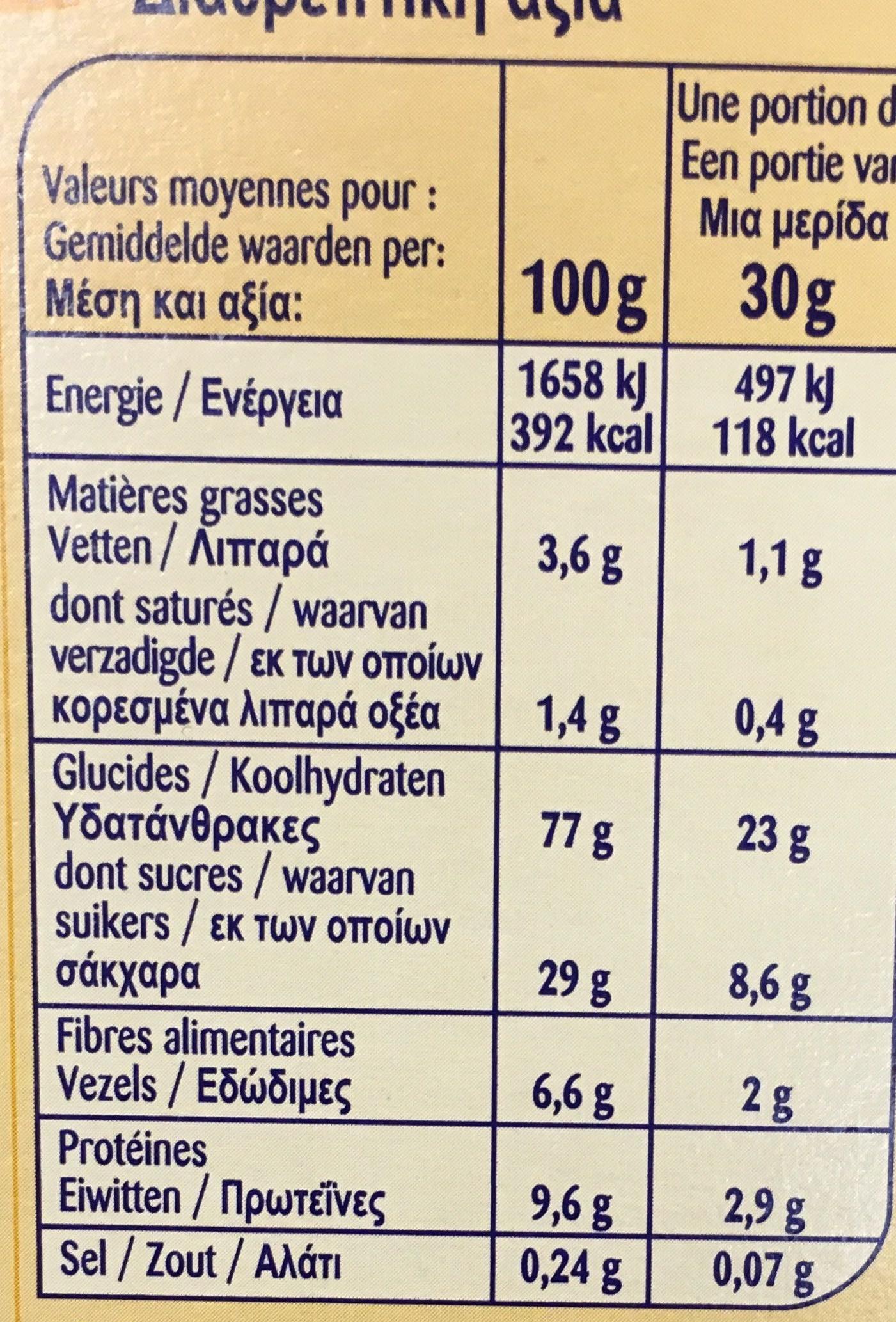 Choco Curlz - Informations nutritionnelles - fr