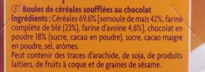 Choco ballz - Ingredienti