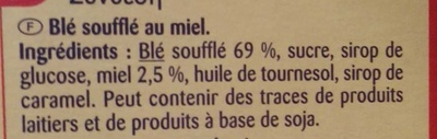 Wizzy Crisp - Ingrédients - fr