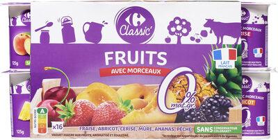 Yaourt Fruits avec morceaux 0% - Producto - fr