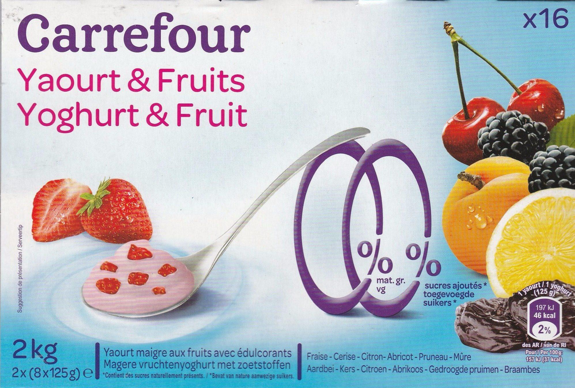 Yaourt & Fruits 0% - Product - fr