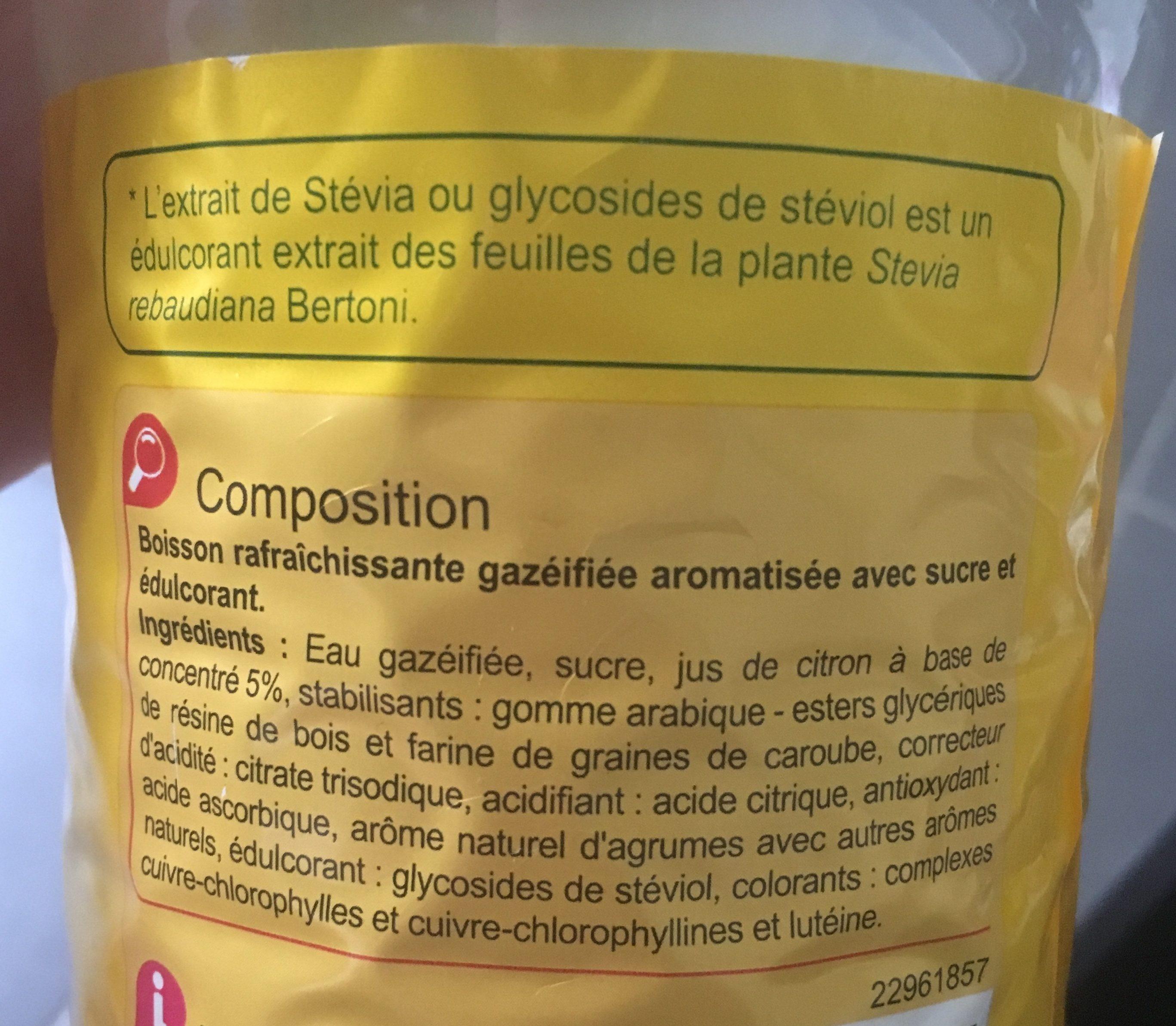 BUL'Z Saveur citron - Ingrédients