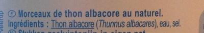 Morceaux de thon albacore - Ingrédients - fr