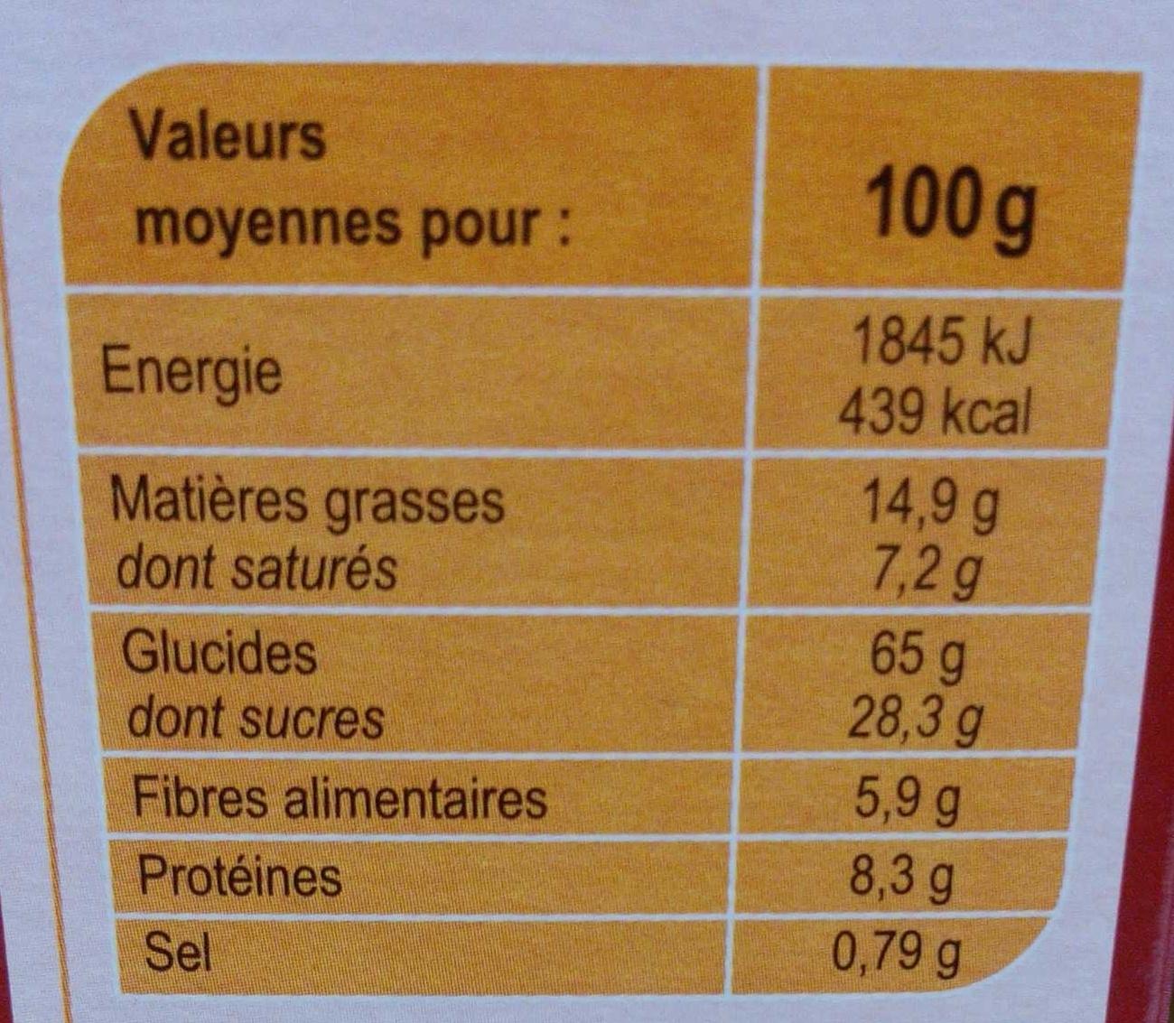 Crunchy Muesli croustillant Mûres entières, Figues & Mangues - Valori nutrizionali - fr