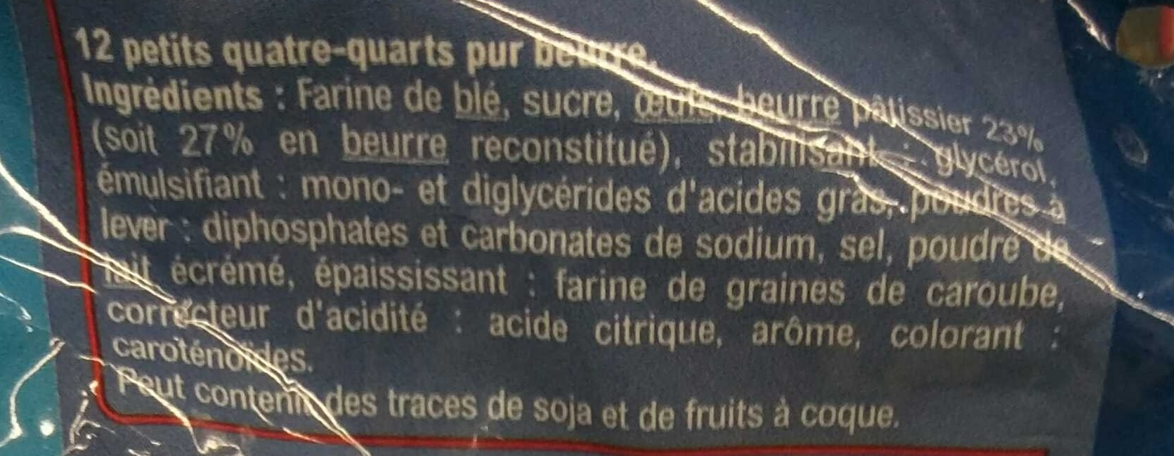 Mini Quatre Quarts - Ingrediënten
