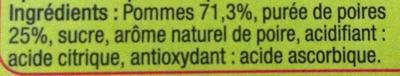 Pomme Poire Spécialité de fruits - Ingredients - fr