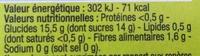 Pomme Poire Spécialité de fruits - Nutrition facts - fr