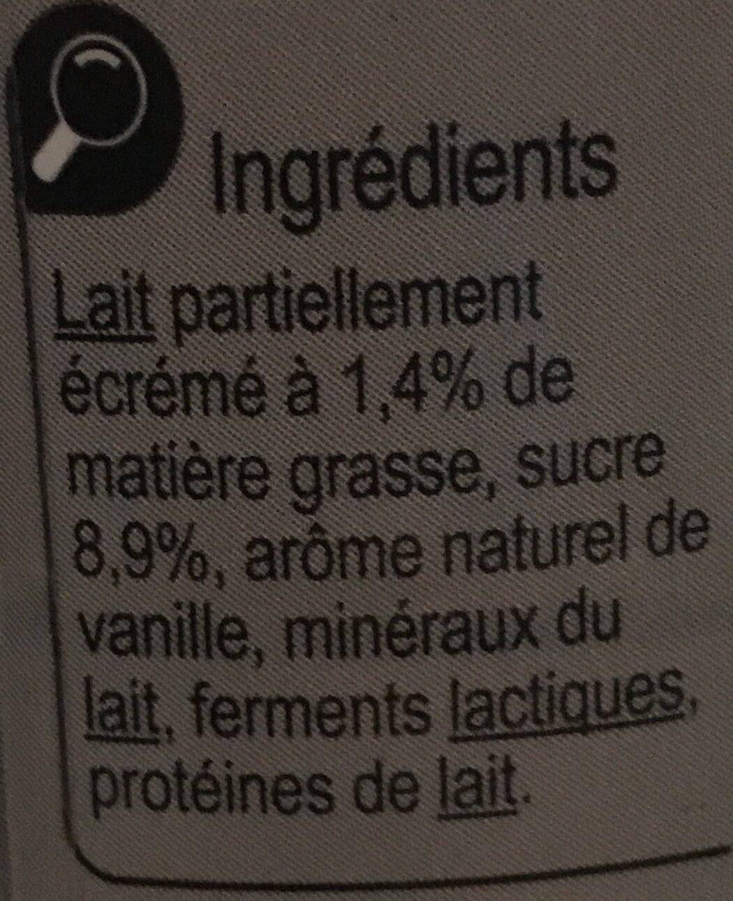 Yah ! Parfum Vanille - Ingrédients - fr