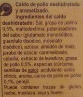 Cubitos Caldo Pollo Carrefour - Ingredientes - es